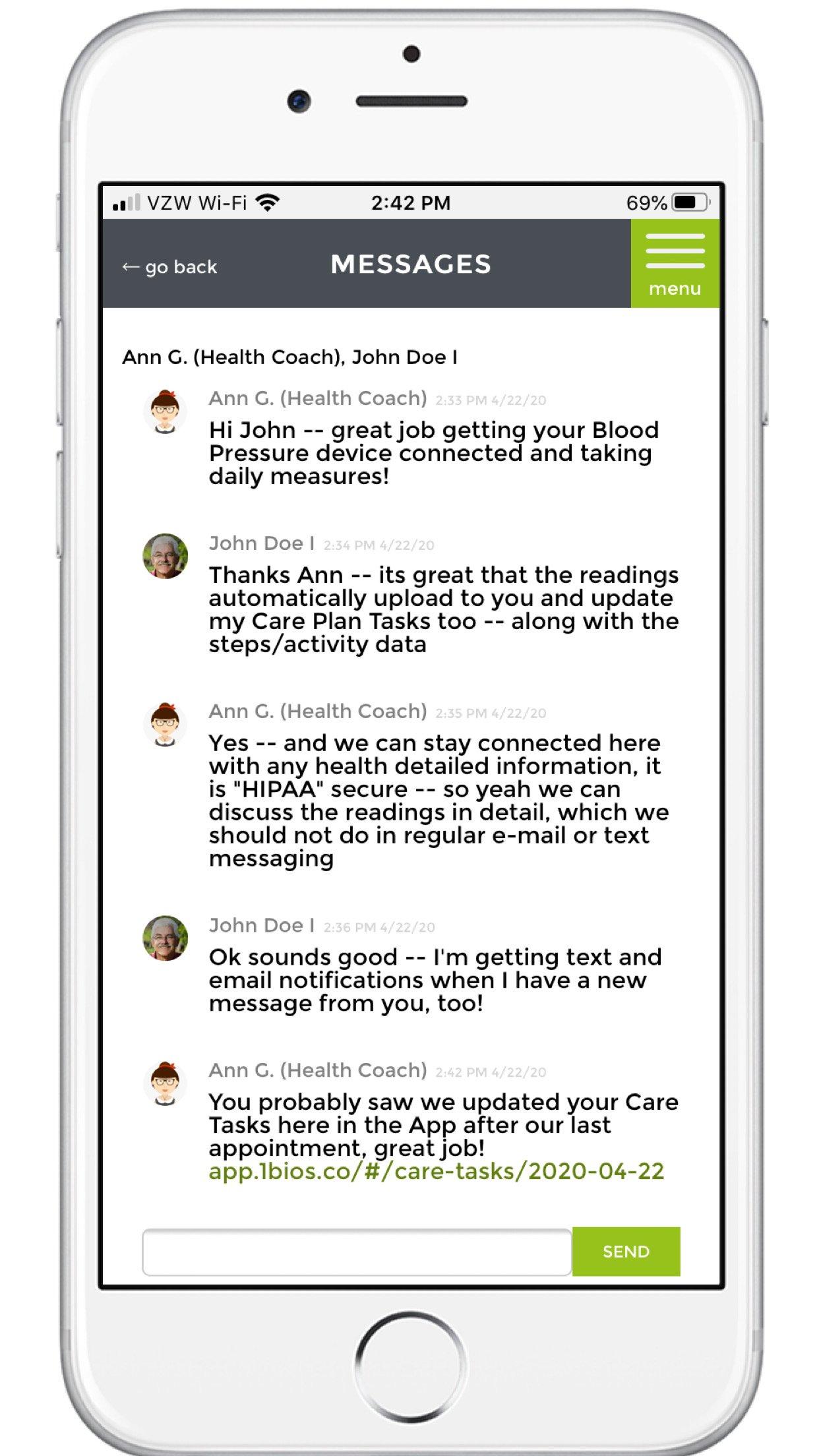 mobile-hipaa-chat-messaging-screenshot-1bios
